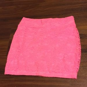 Hot pink tight fit skirt
